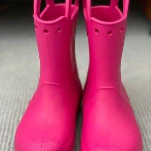 Crocs girl rain boots size 2
